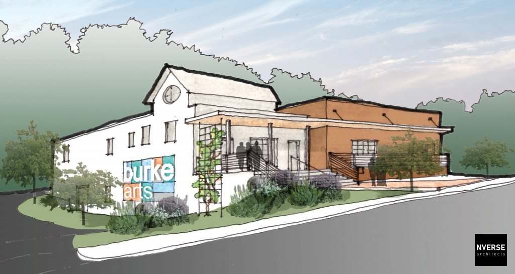 Conceptual Drawing of the future Burke Arts Council building