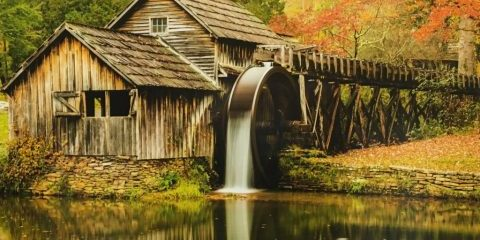 watermill-painting